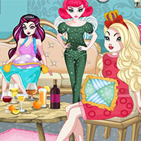 Free online flash games - Ever After High Pajama Party