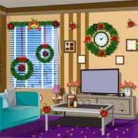 Free online flash games - Decorated Christmas House Escape KnfGame