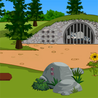 Free online flash games - Top10NewGames Rescue The Raccoon game - WowEscape