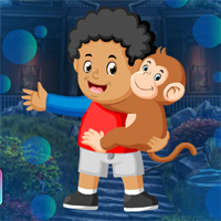 Free online flash games - Games4King Boy And Monkey Escape