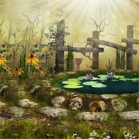 Free online flash games - Fantasy Flower World Escape
