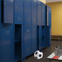 Free online flash games - 8b Sports Locker Room Escape