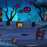 Free online flash games - Halloween Skeleton Escape