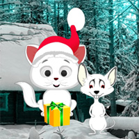 Free online flash games - Christmas Cat and Mouse Fiction Escape