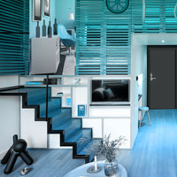 Free online flash games - G2R Contempo Blue House Escape