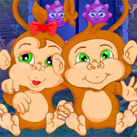 Free online flash games - G4K Pair Monkey Rescue Escape game - WowEscape