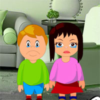 Free online flash games - Rescue Children from Locked House