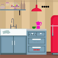 Free online flash games - GFG Kitchen Door Escape 3  game - WowEscape