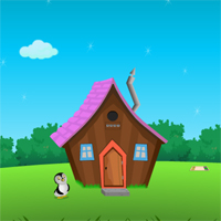 Free online flash games - Baby Penguin Escape