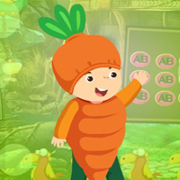 Free online flash games - G4K Lovely Carrot Boy Escape