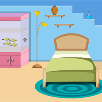 Free online flash games - Pleasant Blue House Escape Games4Escape game - WowEscape
