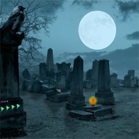 Free online flash games - Scary Cemetery Escape