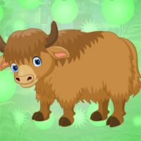 Free online html5 games - Games4King Cute Bison Escape game