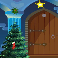 Free online html5 games - G4E Christmas Blue House Escape game