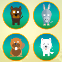Free online flash games - Animals Memory 3 World Gamekidgame game - WowEscape