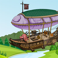 Free online flash games - Flying Ship Escape