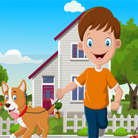 Games4King Cute Boy With Perky Dog Rescue