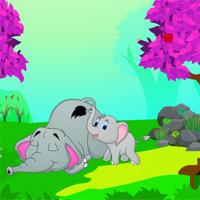 Free online flash games - Escape The Elephant Calf