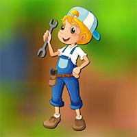 Free online flash games - AVMGames Mechanic Boy Escape