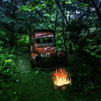 Free online flash games - Old Wrecked Car Forest Escape game - WowEscape