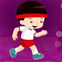 Free online flash games - Games4King Grin Jogging Boy Escape