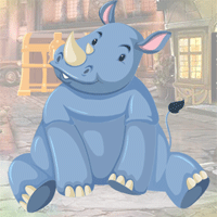 Free online html5 games - Games4King Lazy Rhinoceros Escape game