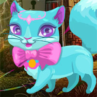 Free online flash games - G4K Fantasy Blue Cat Escape