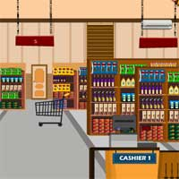 Free online flash games - Grocery Supermarket Escape KnfGame game - WowEscape