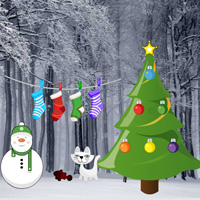 Free online flash games - Games2rule Easy Christmas Forest Escape