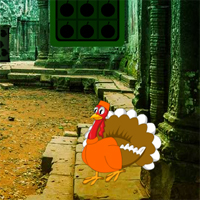 Free online flash games - Big Thanksgiving Ruins Forest Escape