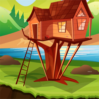 Free online flash games - Lake Side Tree House Escape