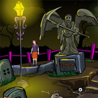 Free online flash games - Halloween Creepy Cemetry EnaGames