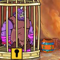 Free online flash games - Games2Jolly The Rhinoceros Warrior Escape