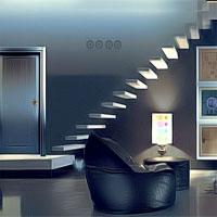 Free online flash games - Modern Blue House Escape EscapeGamesZone game - WowEscape