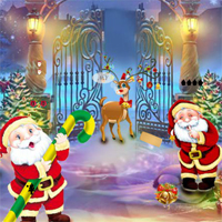 Free online flash games - New Year Find The Deer Cage Key game - WowEscape