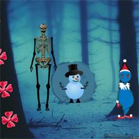 Big Christmas Creepy Forest Escape game info at wowescape com