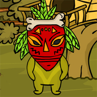 Free online flash games - Tribal Green Monster Rescue
