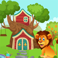 Free online flash games - Games4King Cute Lion Rescue game - WowEscape