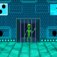 Free online html5 games - G2M Green Alien Escape game