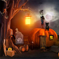 Free online flash games - Escape Halloween Cementry 2 FirstEscapeGames