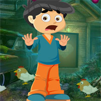Free online flash games - G4K Fearful Boy Rescue game - WowEscape