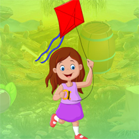 Free online flash games - Games4king Flying Kite Girl Escape