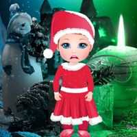 Free online flash games - Little Girl Christmas Gift Escape