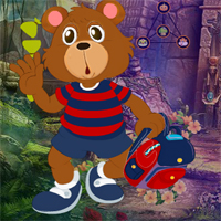 Free online flash games - Games4King Bear Student Escape