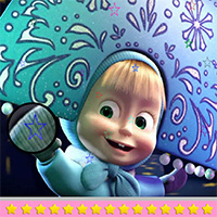Free online flash games - Masha and the Bear Hidden Stars game - WowEscape