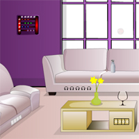 Free online flash games - Pretty Purple Room Escape