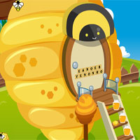 Free online flash games - GFG Cute Queen Bee Rescue game - WowEscape