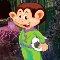Free online flash games - Games4King Soccer Monkey Escape game - WowEscape