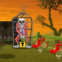 Free online flash games - Games2Jolly Skull Zombie Escape