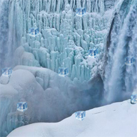 Free online flash games - Snow Hidden icecube game - WowEscape